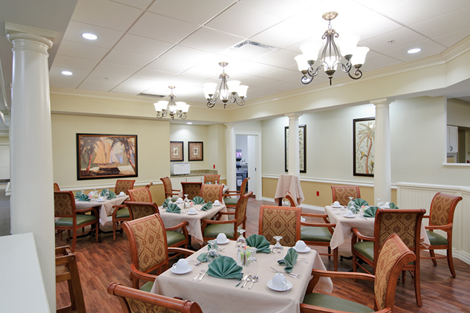 Freedom Pointe at The Villages Rehabilitation & Healthcare Center Dining Room