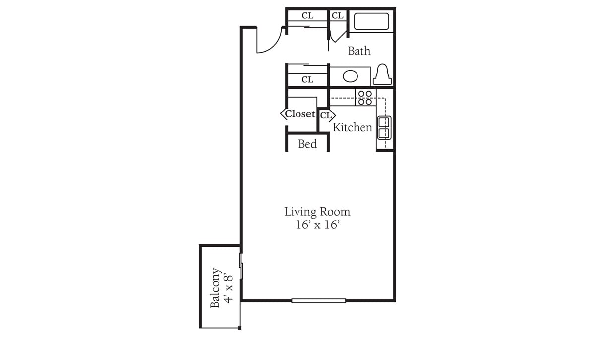 Freedom Square Floor Plan Studio