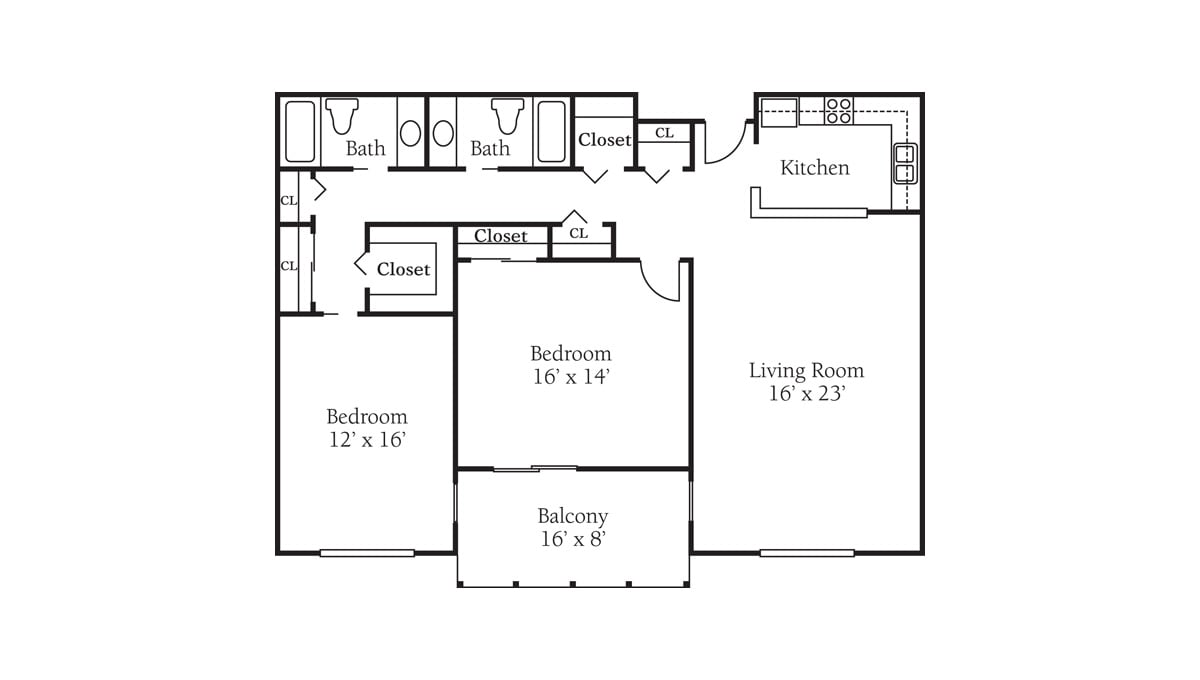Freedom Square Floor Plan Franklin Two Bedroom Deluxe