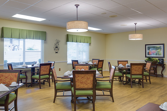 Freedom Square Rehabilitation and Nursing Services Dining Room