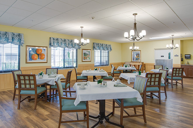 The Nursing Center at Freedom Village Dining Room