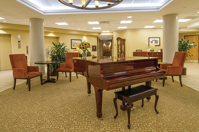 Brookdale Meridian Englewood Skilled Nursing Foyer