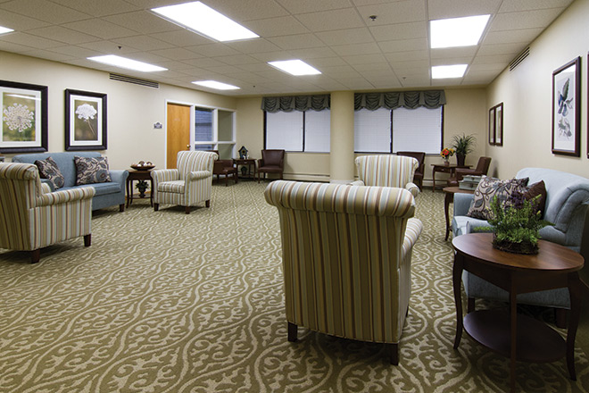 Brookdale Meridian Englewood Skilled Nursing Living Room
