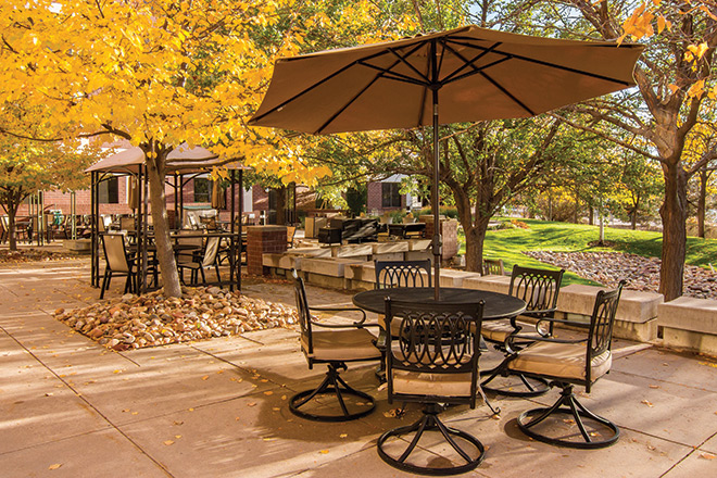 Brookdale Meridian Englewood Skilled Nursing Patio