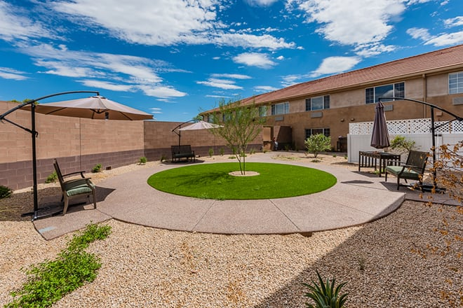 Brookdale Desert Ridge Memory Care Courtyard