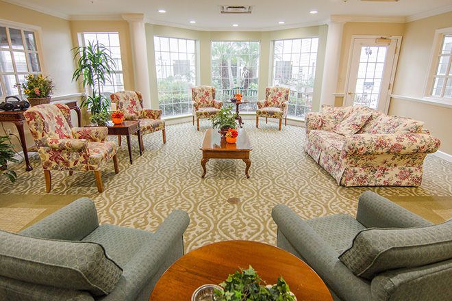 Brookdale Ocoee Community Living Room