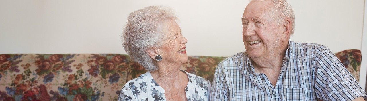 Home Health couple at home