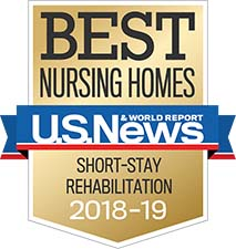 U.S. News Best Nursing Home Short Stay Award 2018-2019