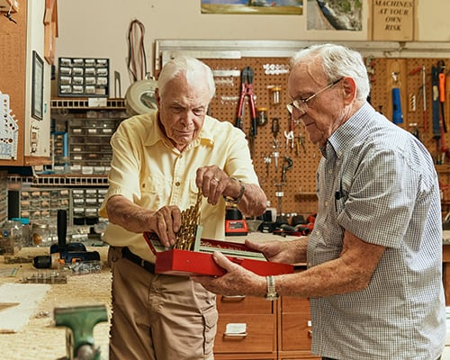 two men in a workshop