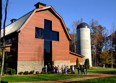 Billy Graham museum barn