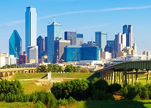 Dallas-Fort Worth skyline