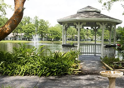 Jacksonville area gazebo and pond