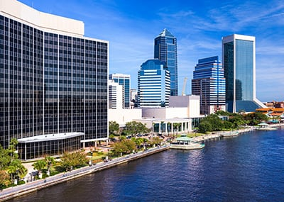 Downtown Jacksonville and river