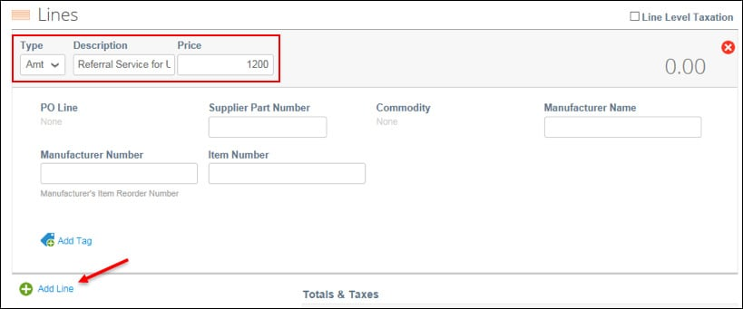 create invoice step 4b