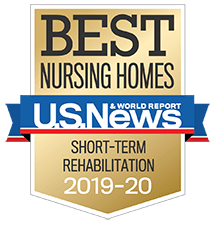 U.S. News Best Nursing Home Short Stay Award 2019-2020